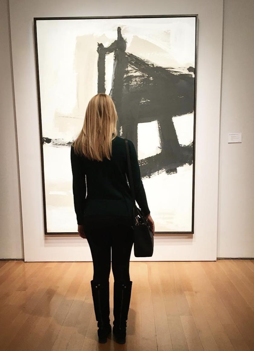 Winter: Christie's New York in front of a Franz Kline
