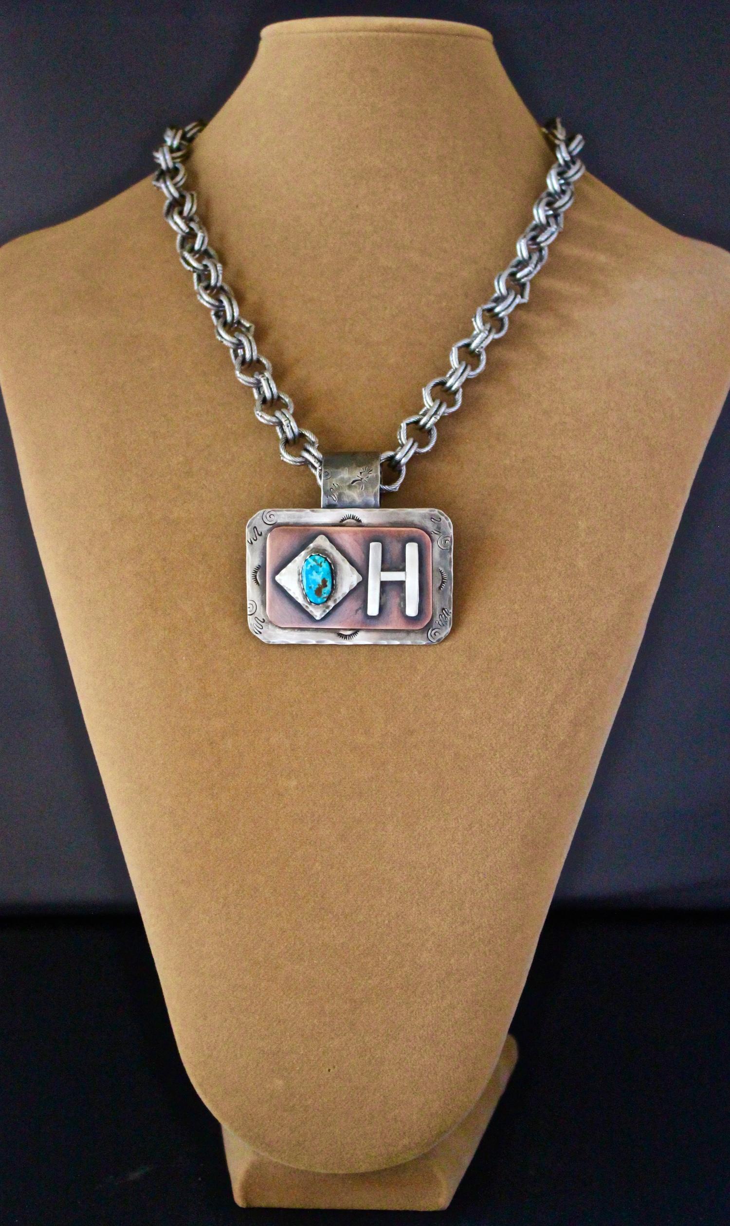 Diamond H Brand Pendant