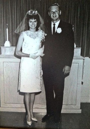- Tom Turner and I being united in 1964 at the Lutheran Church in Olympia, Washington.