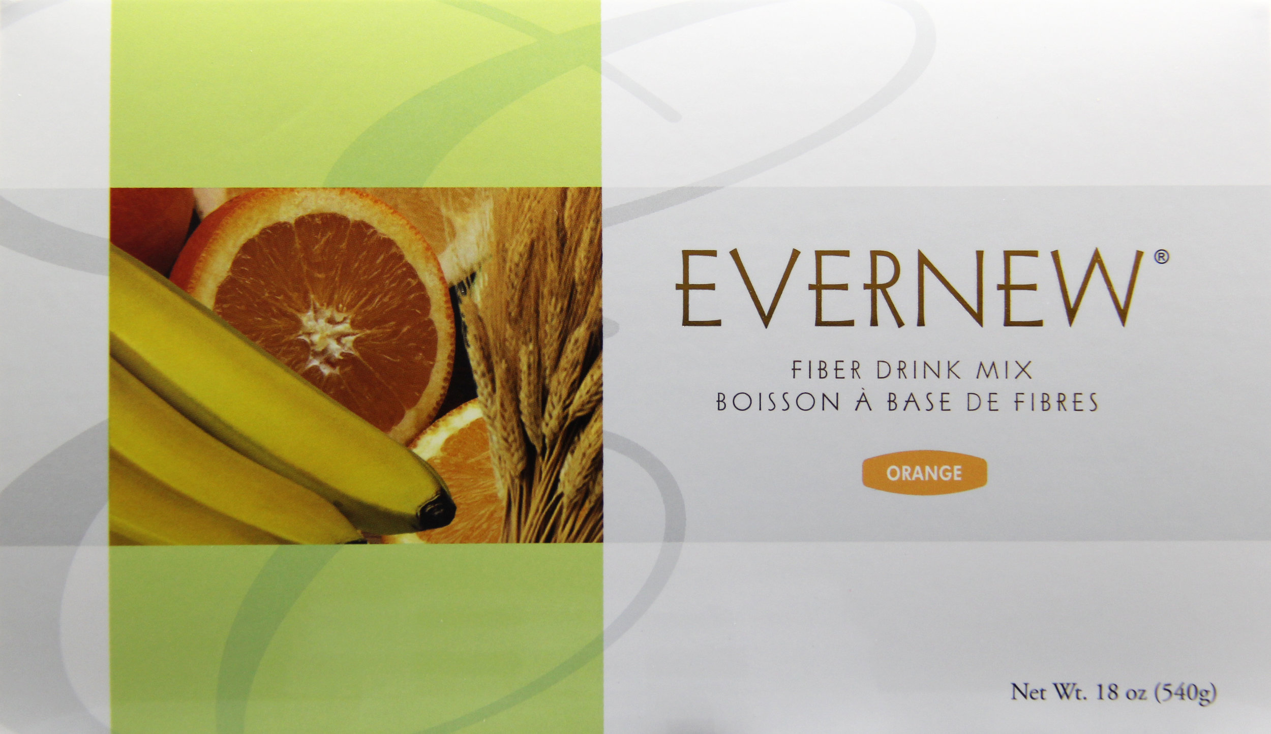 evernew orange - A refreshing and tasty fiber-rich beverage.One packet of Evernew or Evernew Orange provides 3g of soluble fiber from psyllium husk.Featured Ingredients: Psyllium Husk, Orange, Oat Fiber