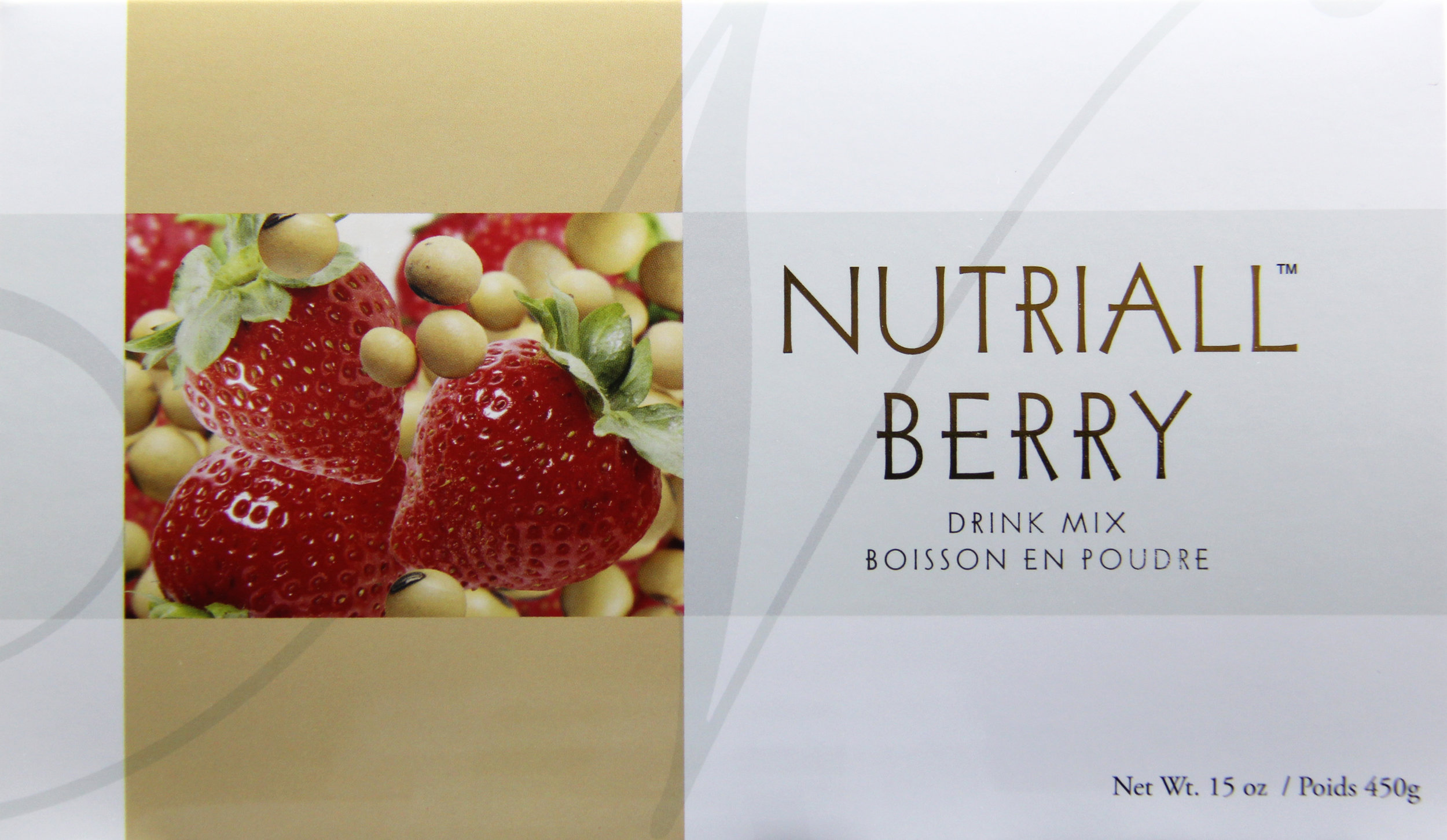 "nutriall berry - A good source of plant protein. ""Diets low in saturated fat and cholesterol that include 25g of soy protein a day may reduce the risk of heart disease (21 CFR 101.82).""One packet of Nutriall Original provides 8g of non-GMO soy protein. Two packets of Nutriall Berry provides 10g of non-GMO soy protein.Featured Ingredients: Non-GMO Soy Protein, Strawberry, Sacred Lotus Leaf"