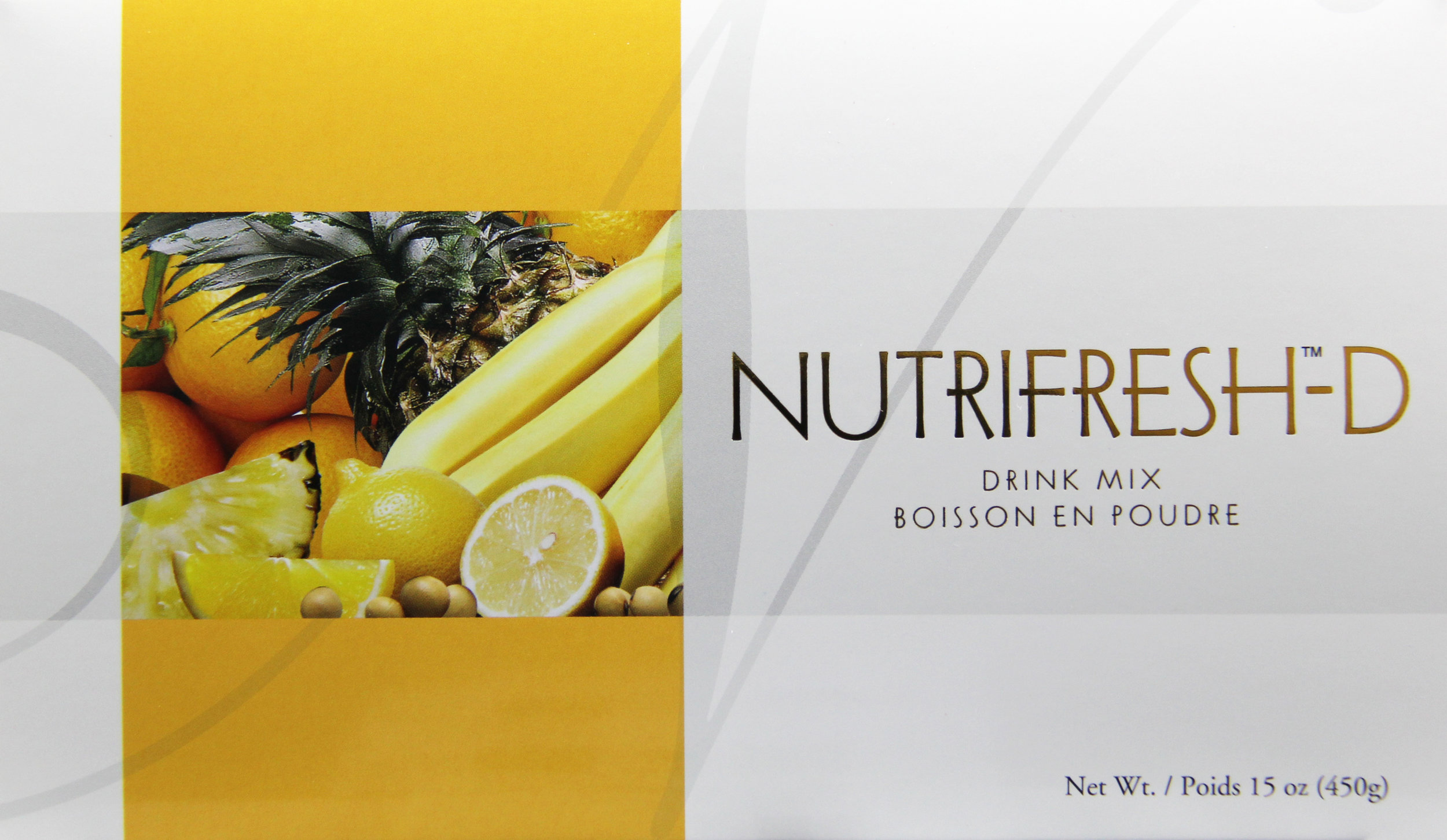 nutrifresh-d - A botanical powdered beverage. Vegan, less sugar, low-fat, cholesterol-free. Very low sodium. Contains natural soy and fruit. No artificial colors or preservatives. Made with non-GMO Soy.Featured Ingredients: Non-GMO Soy, Banana, Orange