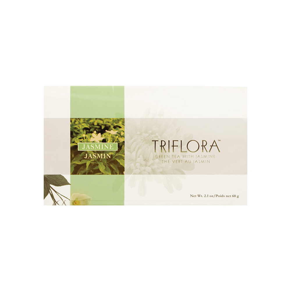 TRIFLORA JASMINE - Relax and refresh your senses as you enjoy this aromatic brew with the soothing scent of jasmine.Featured Ingredients: Green Tea Leaves, Jasmine Flower, Panax Ginseng, Chrysanthemum