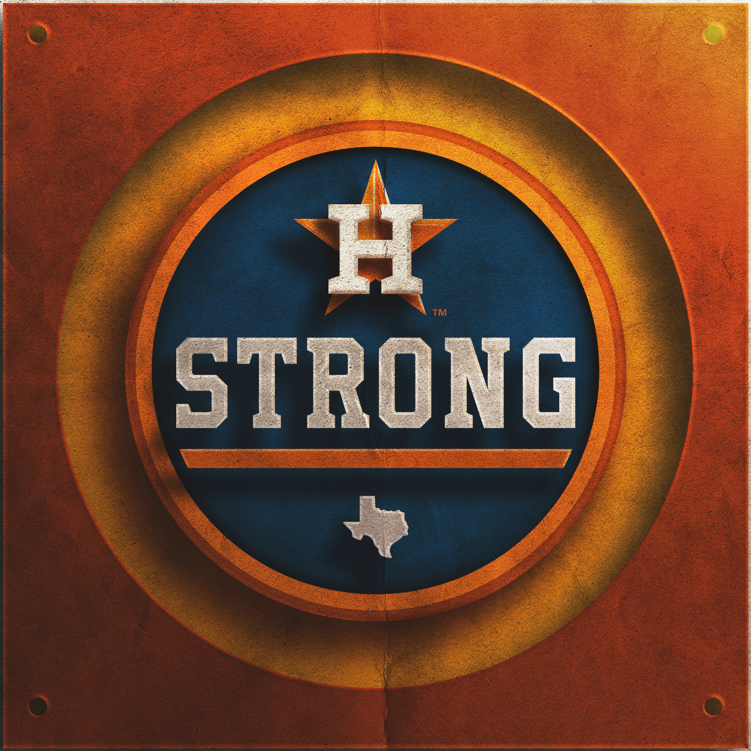 A SYMBOL OF STREGTH - The Astros wore this logo on their chest during their first game back to Houston after the catastrophic Harvey flood and continued to wear it throughout the remainder of the season and all the way through the World Series game seven win