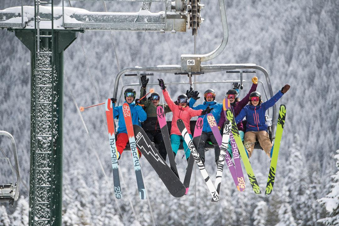 Crystal Mountain lift tomfoolery.  IMAGE:  COURTESY CRYSTAL MOUNTAIN RESORT