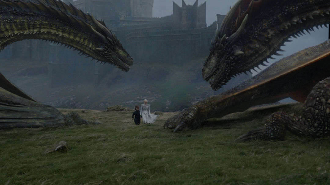 Tyrion and Daenerys discuss her legacy at Dragonstone in the show's seventh season.  IMAGE:  COURTESY HBO