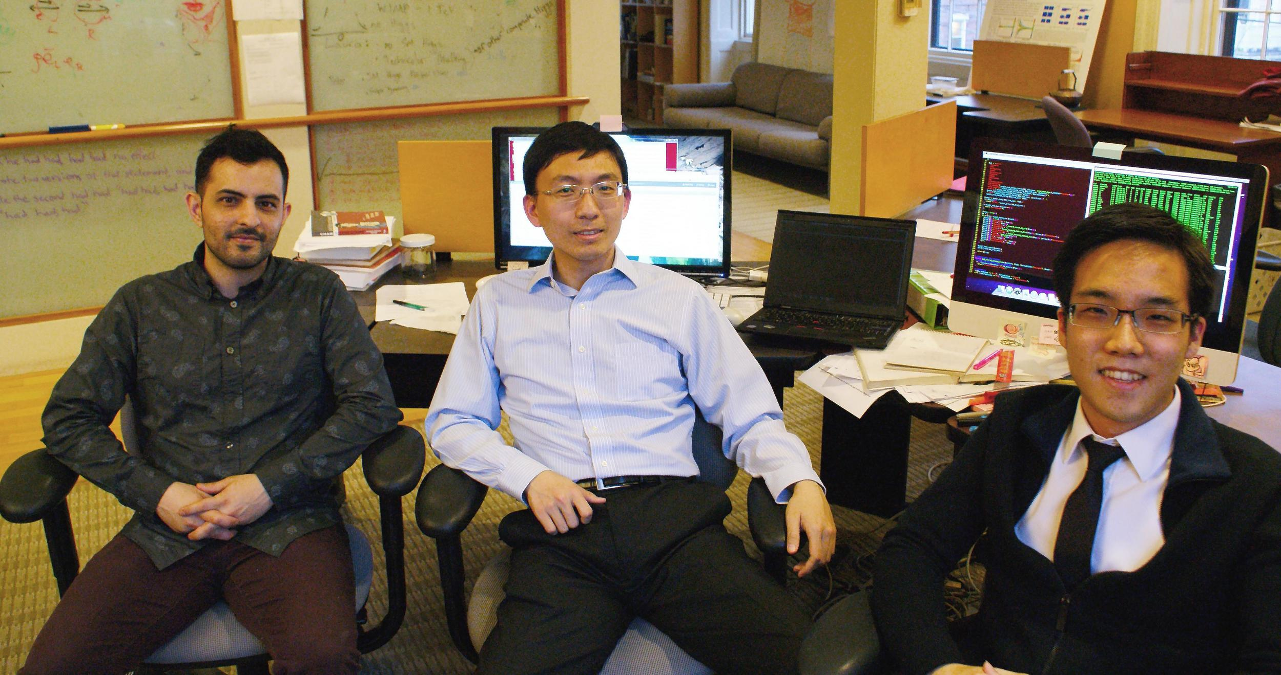 Cofounders, from left to right, Jason Stockman, Wei Sun, Andy Yen (BS '10). Forbes.com