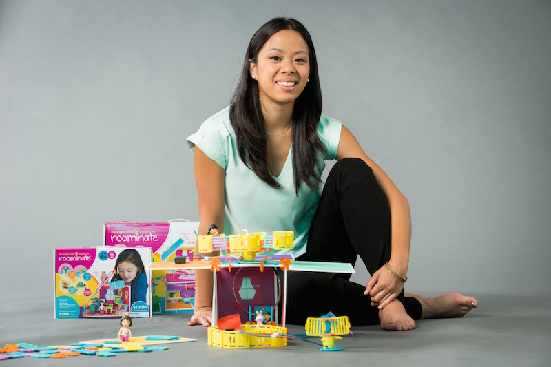 Bettina Chen (BS '10) with the Roominate Chateau.
