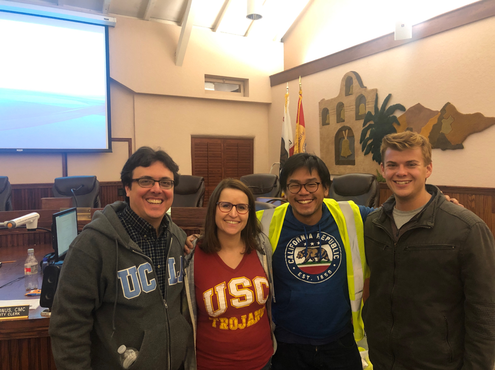 My team of volunteers for the homeless point-in-time count on January 22nd in the City of San Gabriel. Note that fine alumni of other SoCal schools are also interested in solving housing issues!