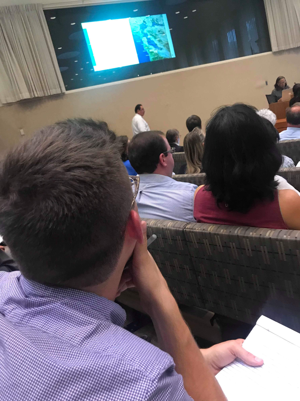 Watching the Santa Clara County staff presentation on Stanford's expansion request; May 30th, 2019; Palo Alto City Hall