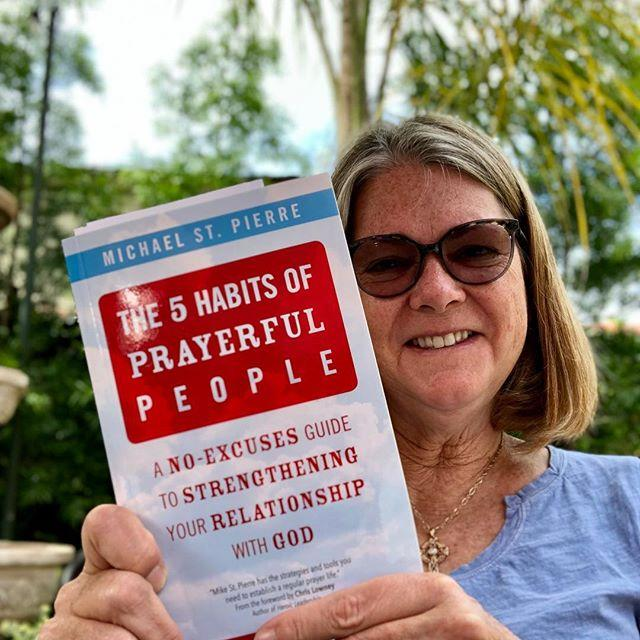 Here is reader and friend Lisa Hendey with her copy of the book.