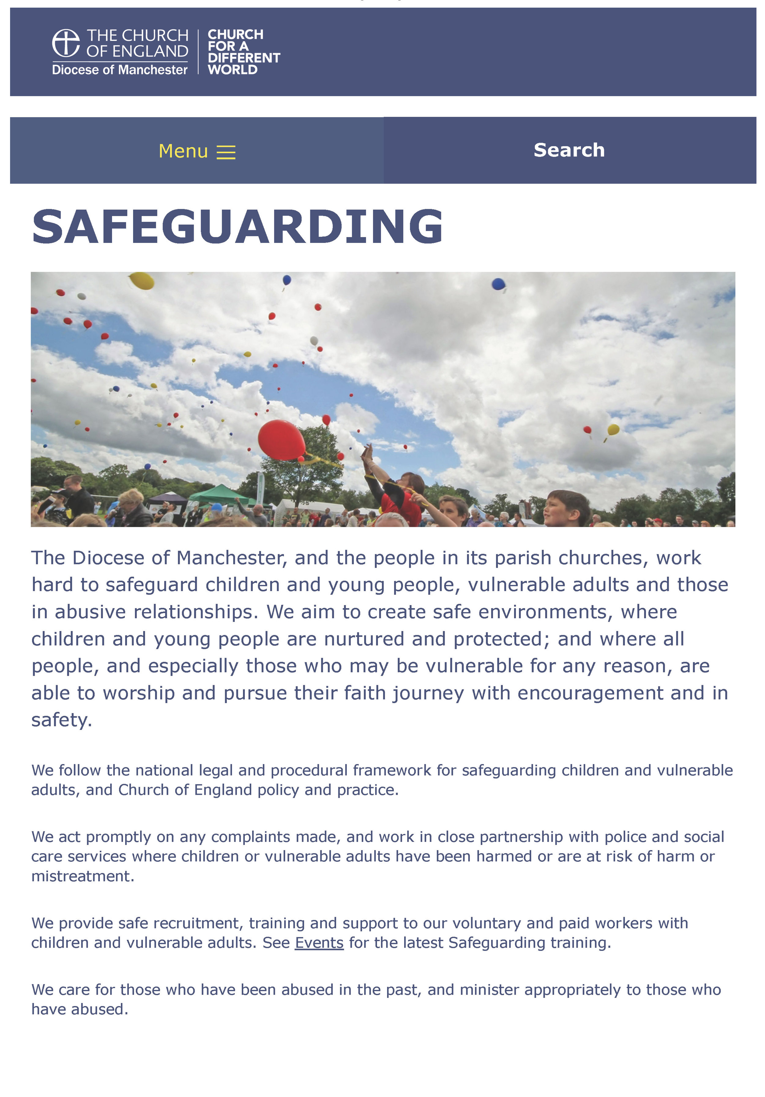 Diocese of Manchester - Safeguarding