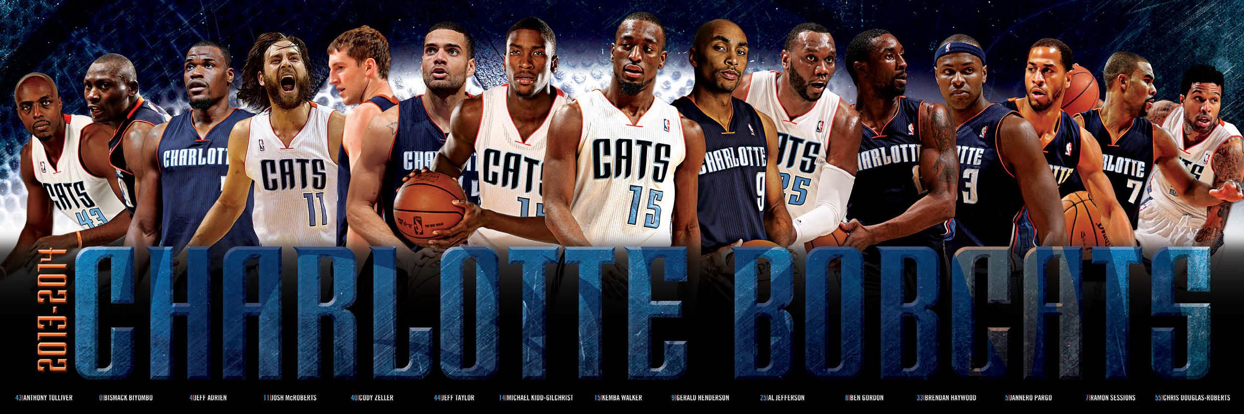Charlotte Bobcats Team Poster