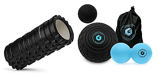 Massage Ball Set or Foam Rollers - Recovery is essential to any athlete and you'll find these tools are a must for tight sore muscles.