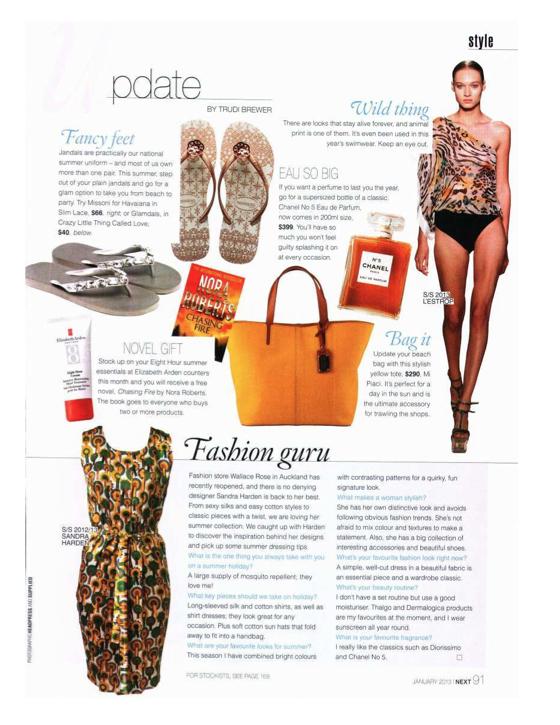 GLAMDALS Next Magazine January 2013