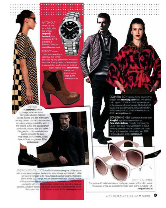 KiaOra Magazine June 2013 Rodd & Gunn Fashion Pages