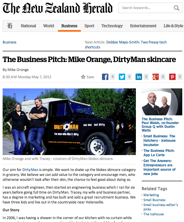 Dirtyman Skincare on The Herald Business