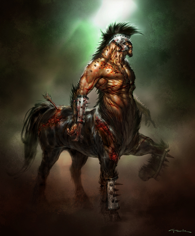 """The Centaur had one of the most memorable Kills inGod of War IIIwhere Kratos ripped out his intestines. Animated by Michael Biancalana, it only took him a few passes to get it just right. We worked together on getting the """"QTE"""" timing just right where each button responded quick enough to simulate a proper button press with an immediate action which is the key to making QTEs feel interactive."""