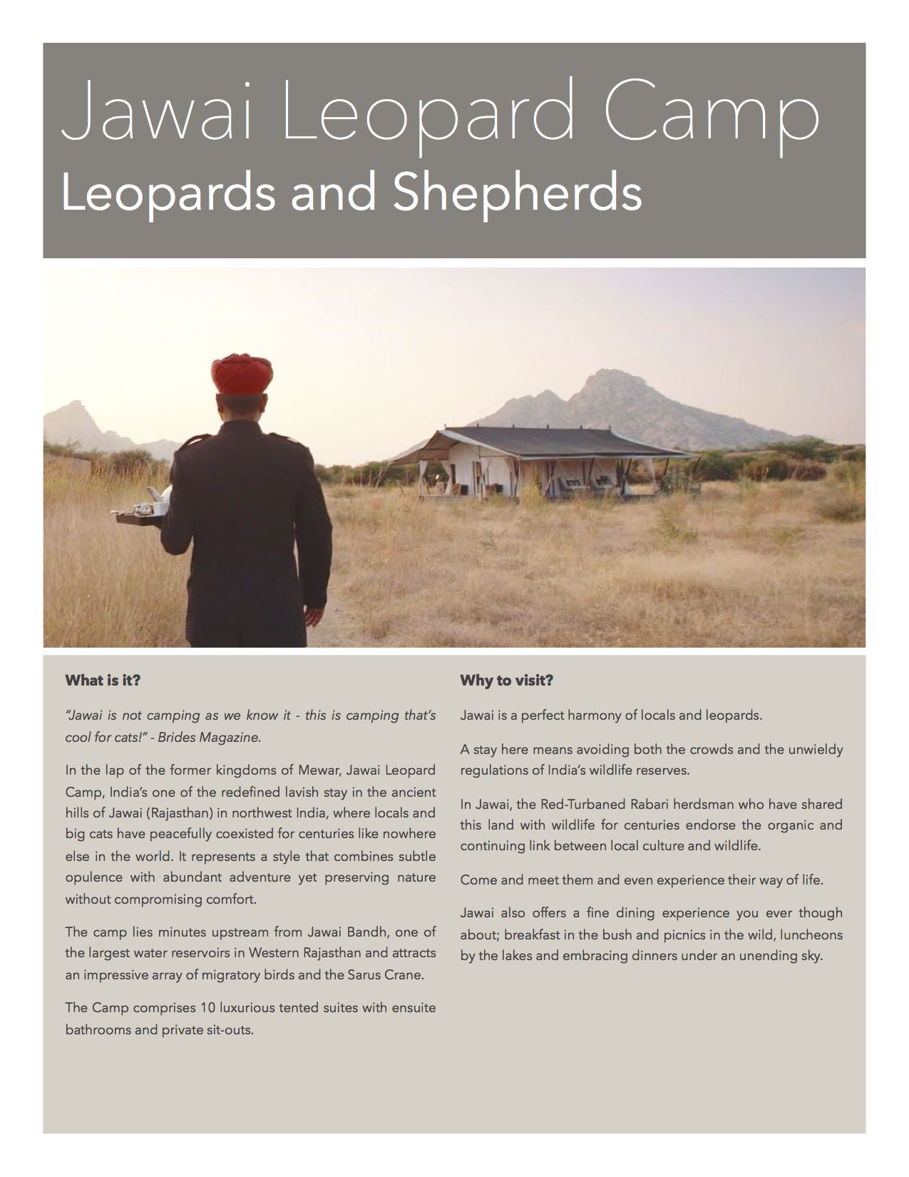Jawai Leopard Camp - Your stay in Jawai, Rajasthan