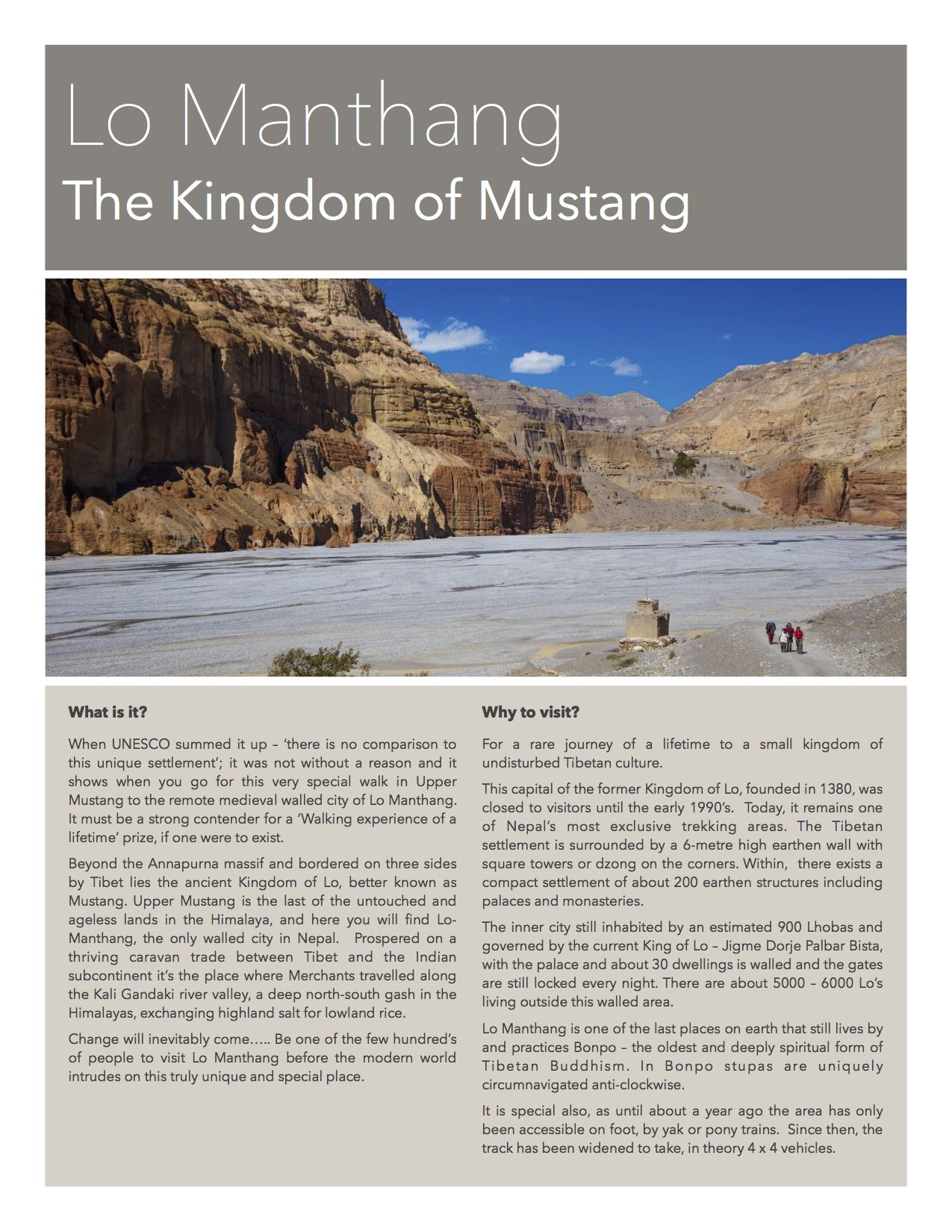 Lo Manthang - Kingdom of Mustang in Nepal