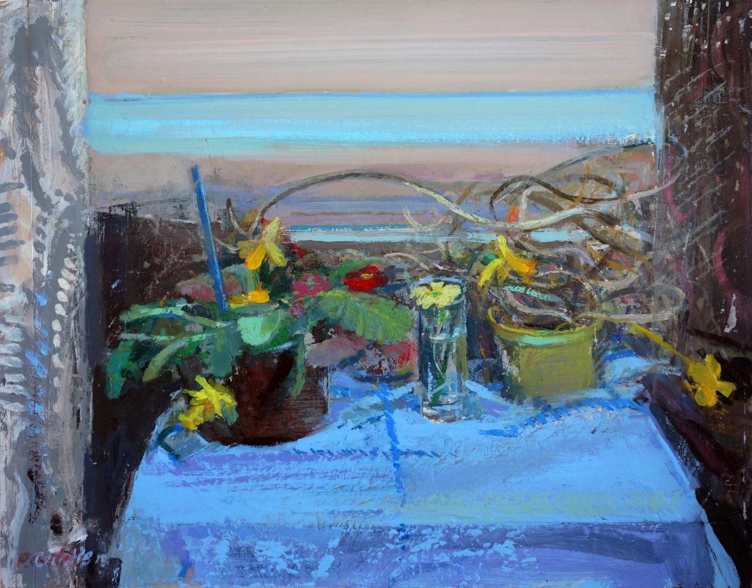 Studio Window Porthmeor Beach 36x46cm Acrylic & Oil £550.jpg
