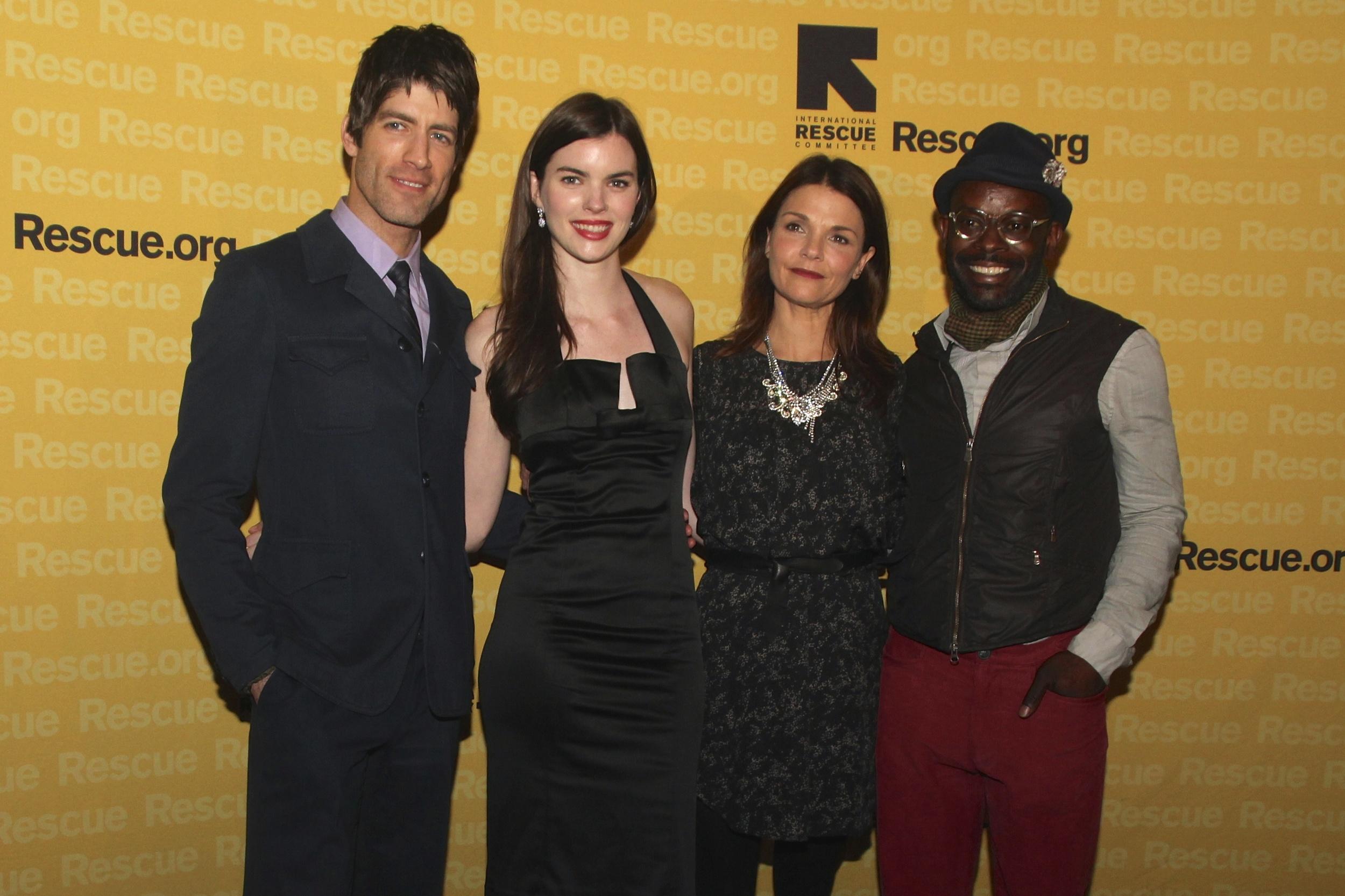 Brad Raider, Kaley Ronayne, Katie Erbe, and Sahr Ngaujah at the IRC Freedom Awards, Waldorf Astoria, NYC - November 6th, 2013