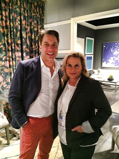 With Thom Filicia at the Vanguard Furniture showroom in High Point