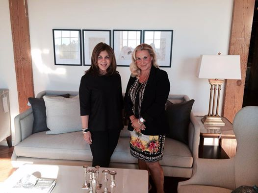 Suzanne Kasler and Tammy Randall Wood at Hickory Chair showroom