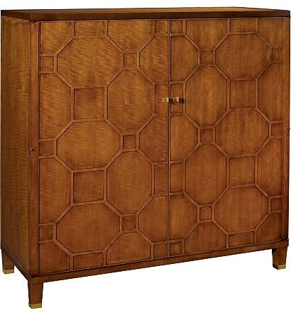 The Blackland Cabinet with Burnished Brass Hardware by Suzanne Kasler for Hickory Chair