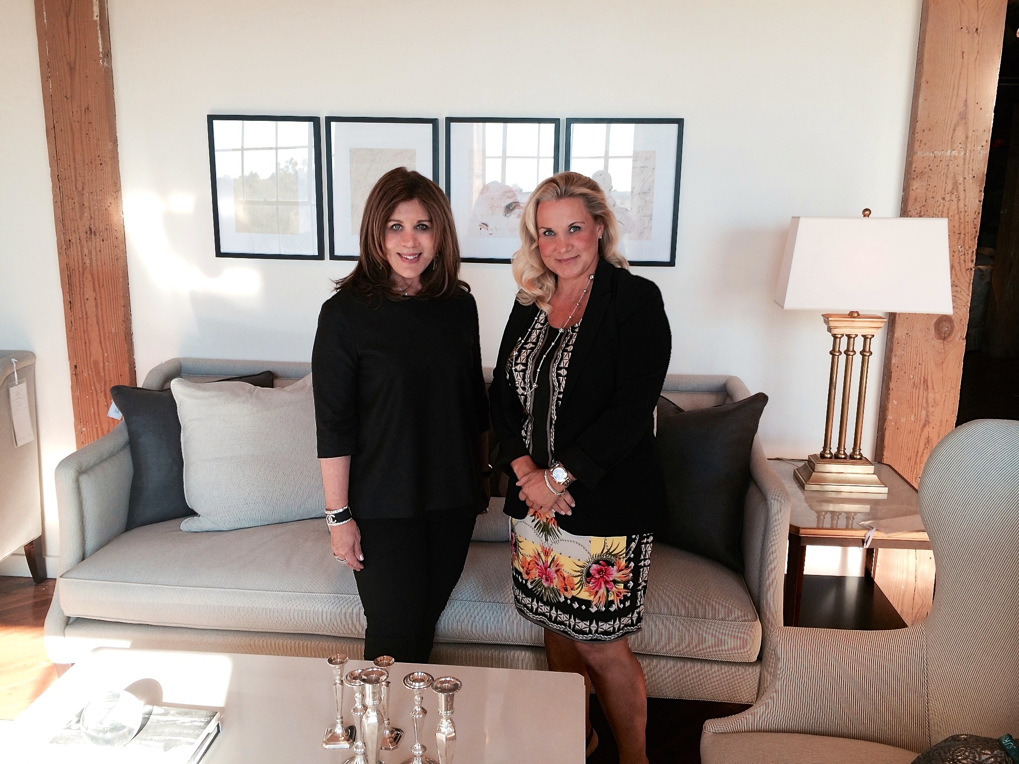 With Suzanne Kasler in her stunning new space featuring her fall collection at the Hickory Chair showroom in High Point.