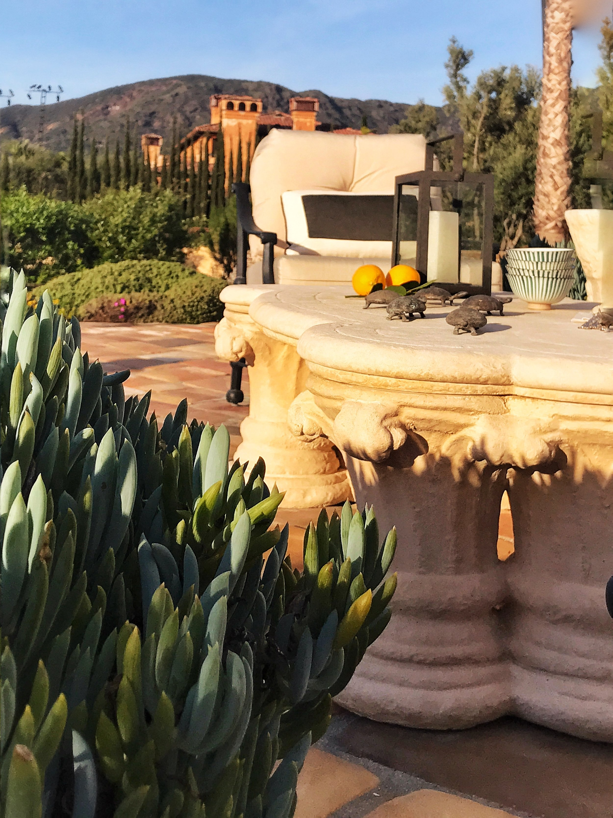 """View to the """"Bachelor House"""" in the Santa Monica Mountains"""