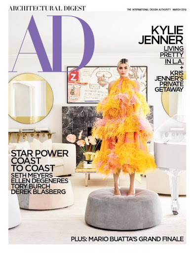 The March issue of Architectural Digest features dual covers of Kylie and Kris Jenner