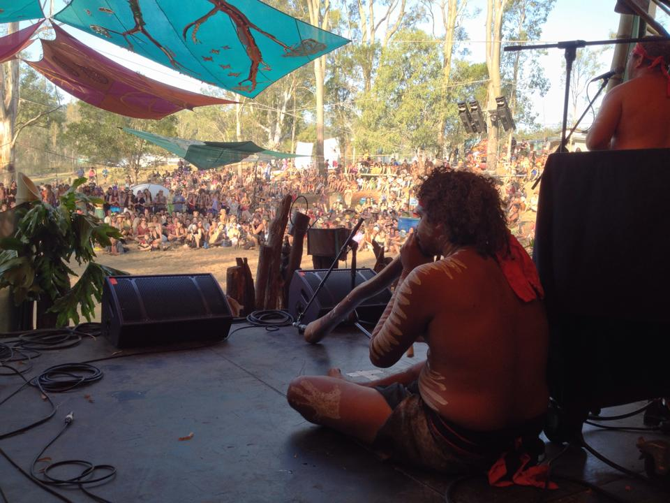 Didgeridoo Performance at Earth Frequency Festival 2014
