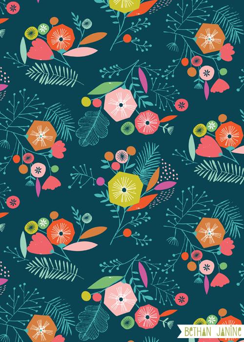 Flock floral