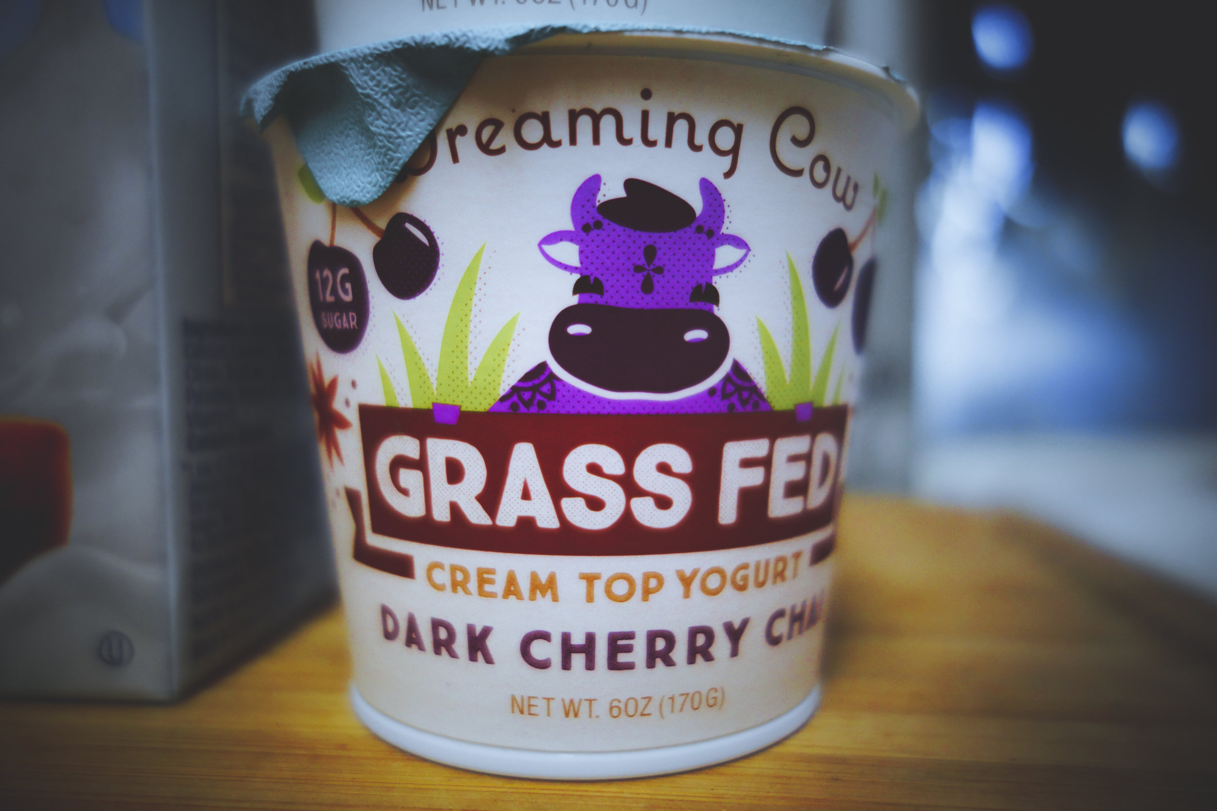 Grass fed yogurt. I found this at Ralphs for 0.69 cents. Im going to put this in my post workout shake.