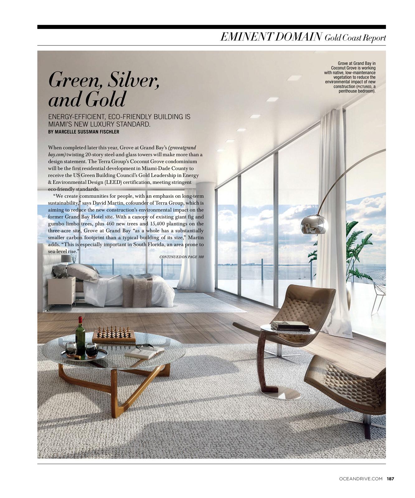 Grove at Grand Bay Penthouse | Rendering via Azeez Bakare Studios