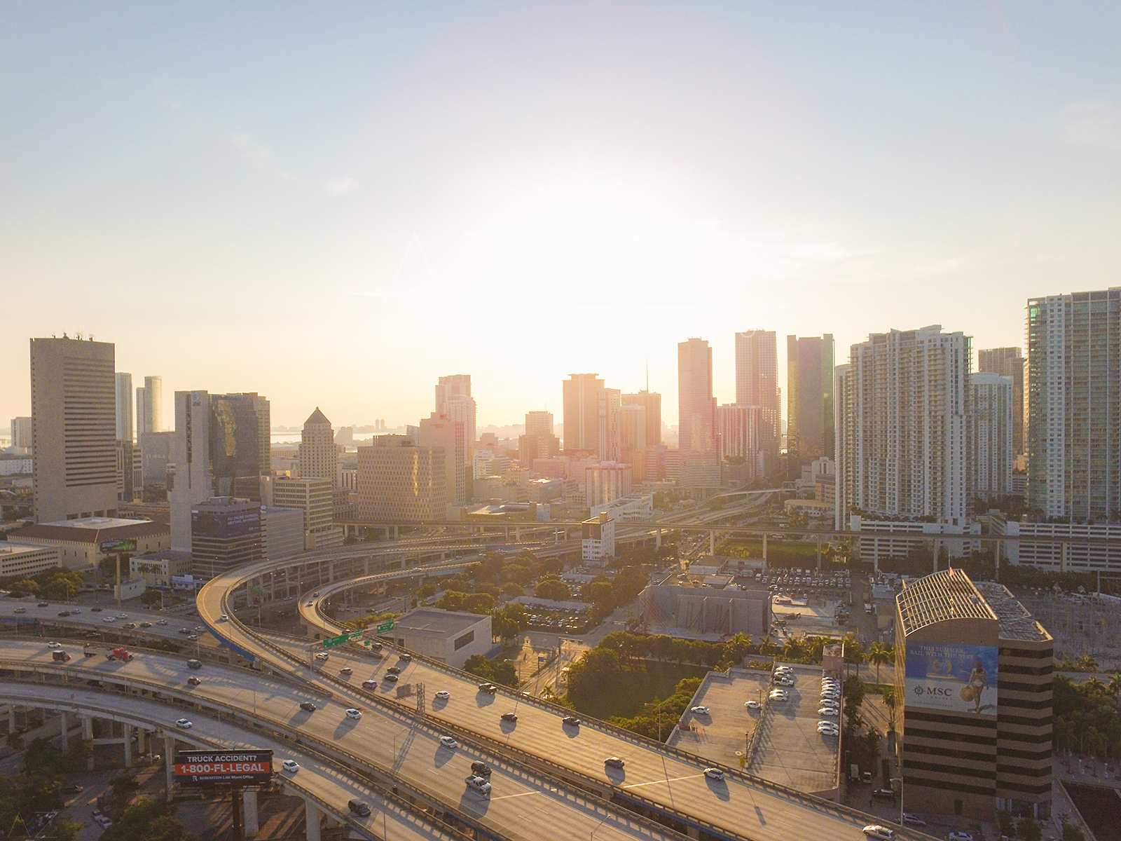 Downtown Miami, FL Drone
