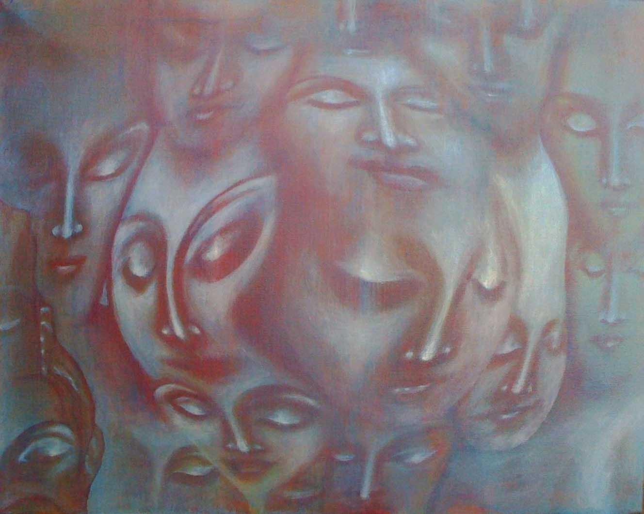 "Untitled, 2011   Acrylic on canvas  16"" x 20 "","