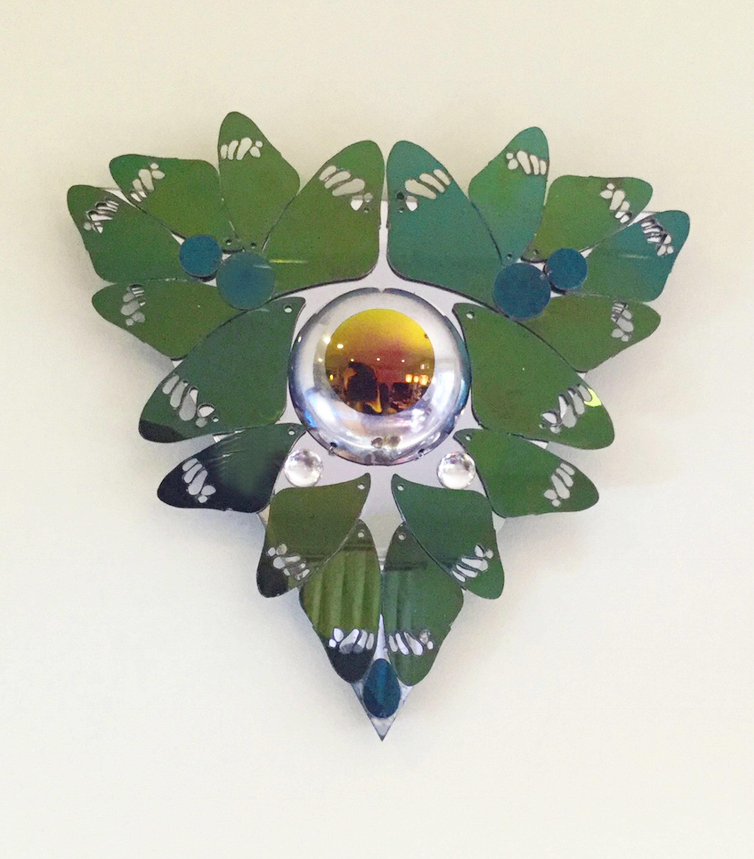 """Kaleido :Third Wing  Acrylic, stainless steel. 12"""" x 12"""" x 13""""   Limited number available, made upon request. Contact for price"""