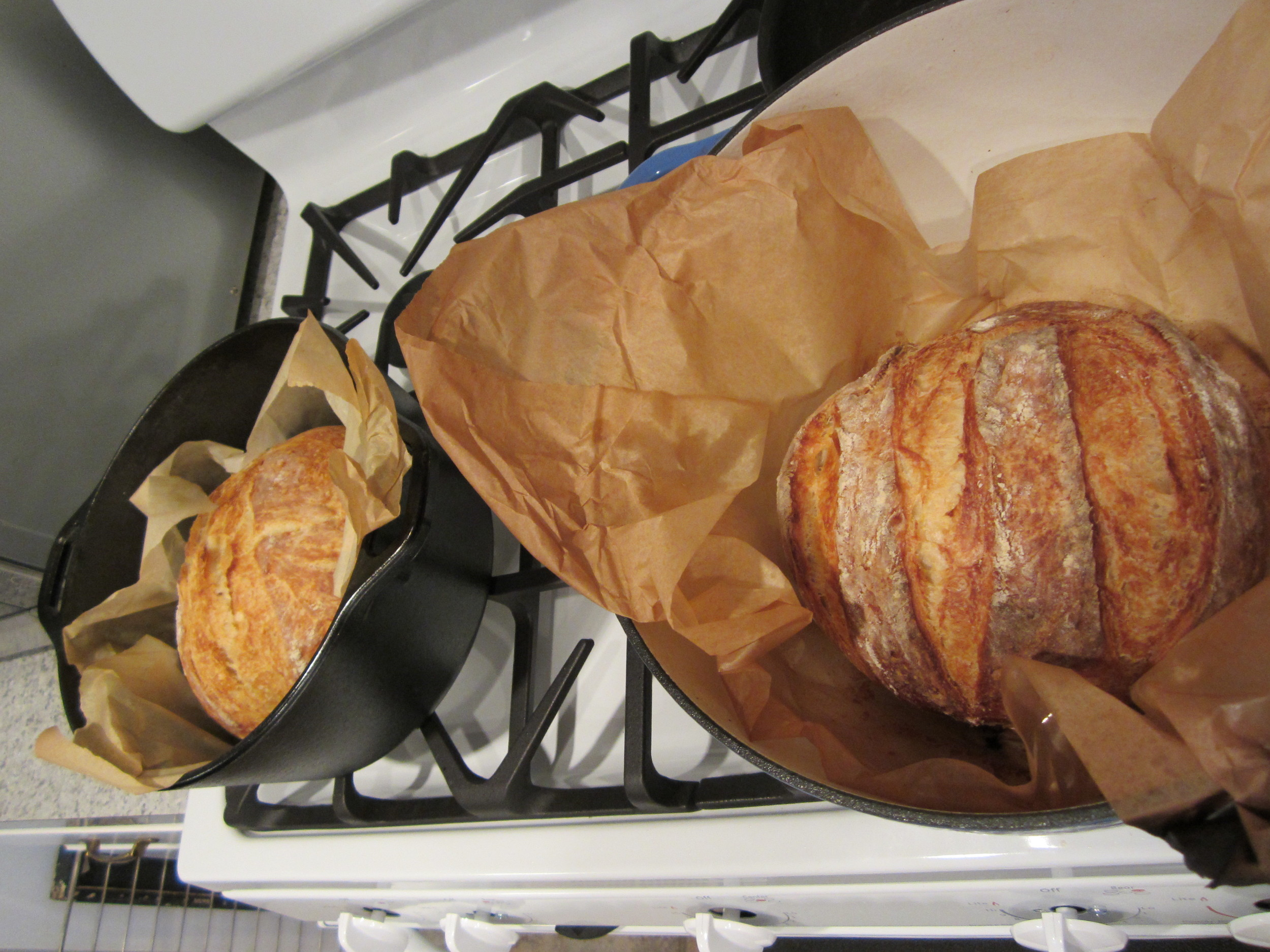 First baking in the new oven, Sep, 2011 (3).jpg