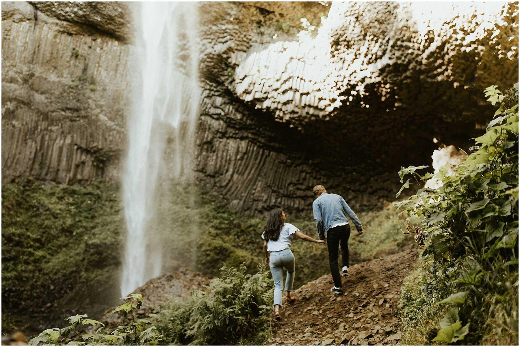 An elopement at Latourell Falls