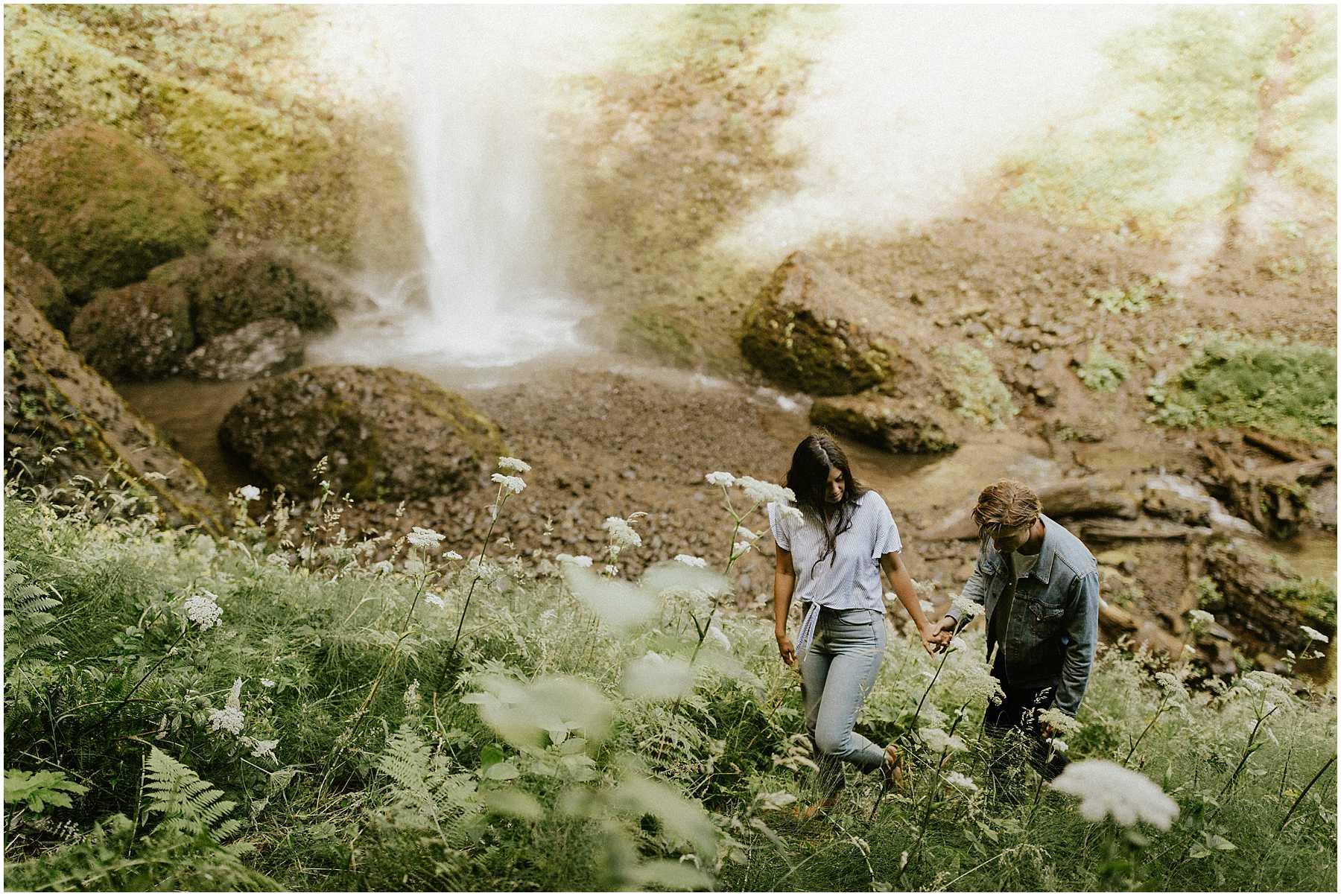 Adventurous, Latourell Falls Couples Shoot