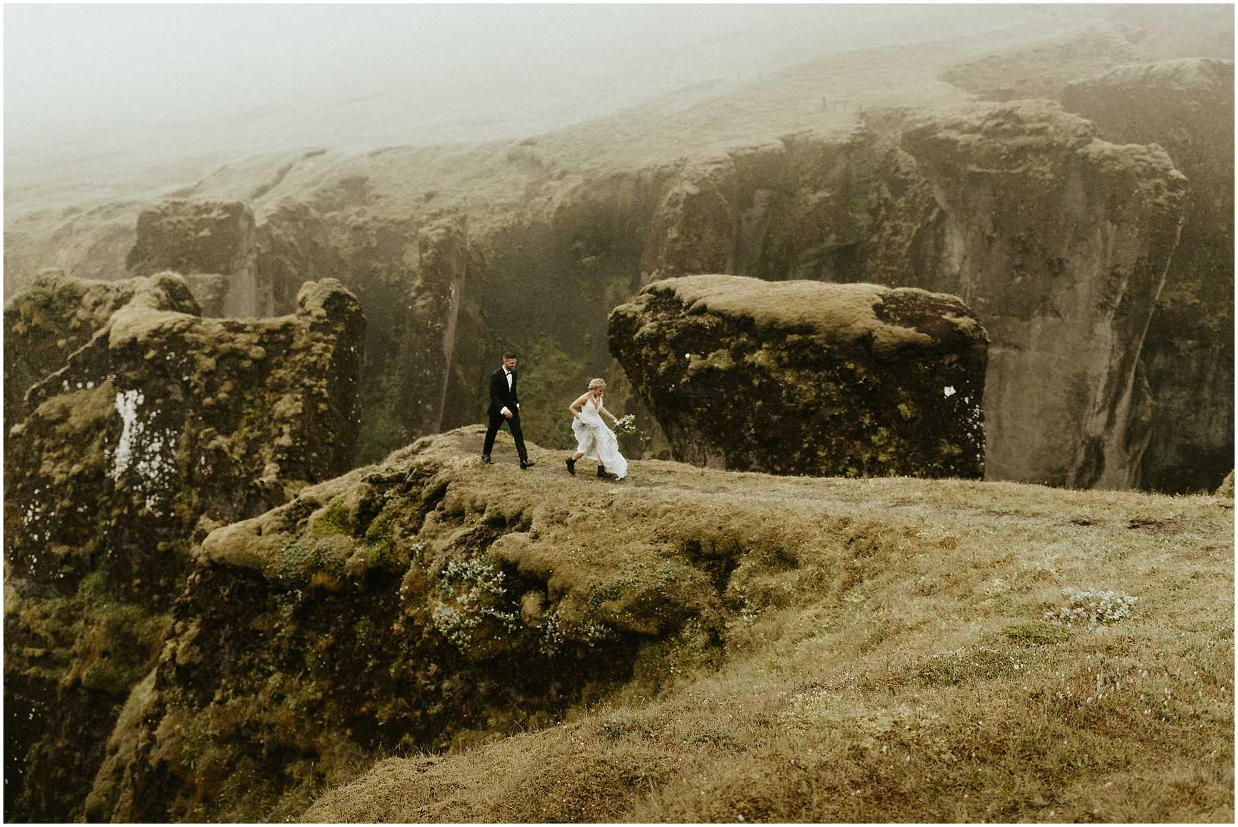An Intimate, Cliffside Elopement in Iceland