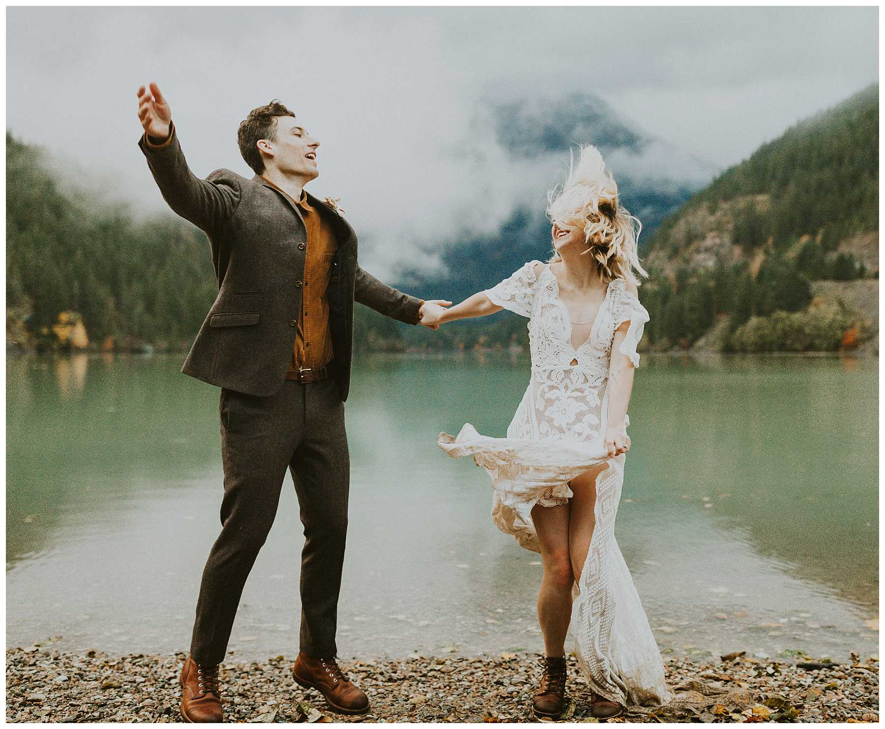 A Northern Cascades National Park Elopement at Diablo Lake