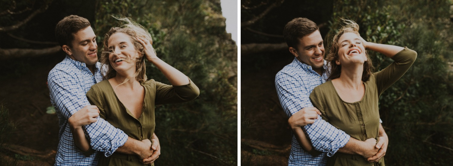 Hawaii Engagement Session in the Mountains of Oahu