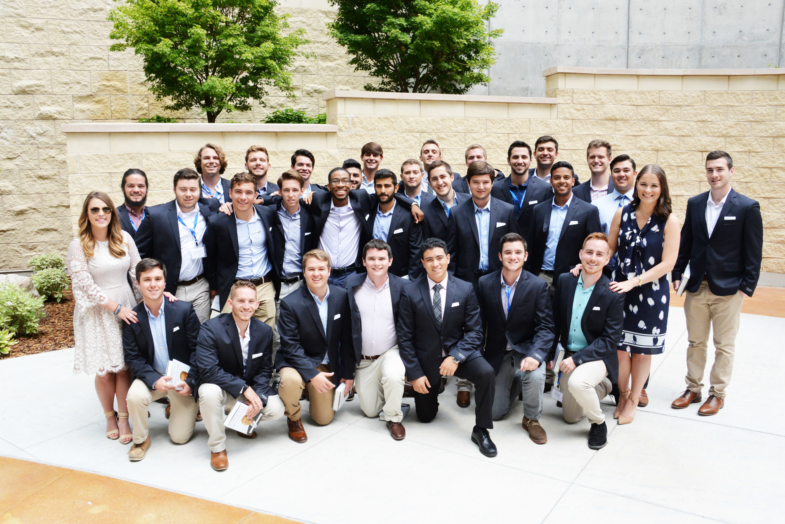 Alpha Nu, James Sales visiting Huntsman Cancer Institute as a representative of the Alpha Nu Chapter at the 20K Club Conference