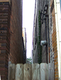 Space between two buildings in Cleveland