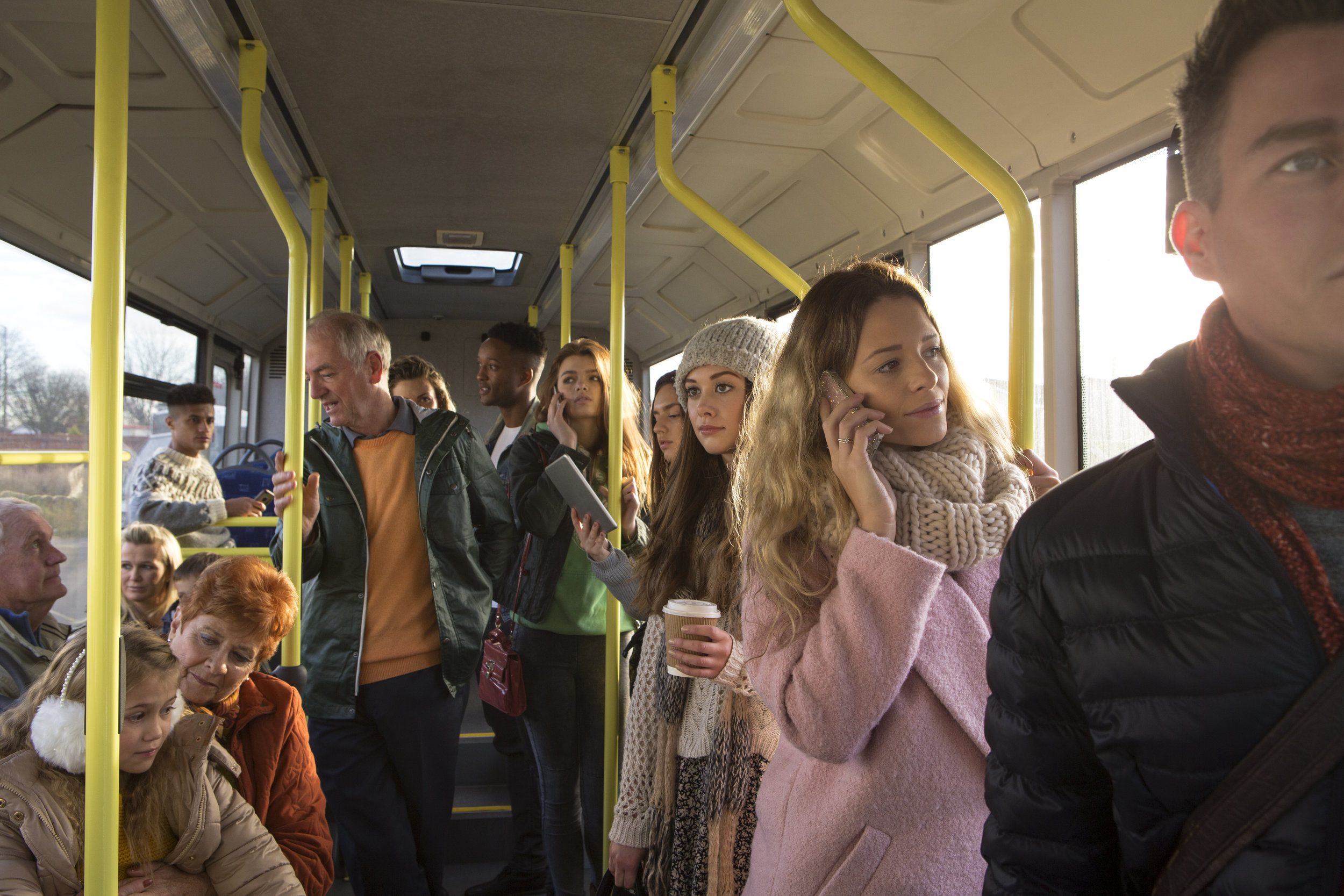 People on a bus  -  Shutterstock.com