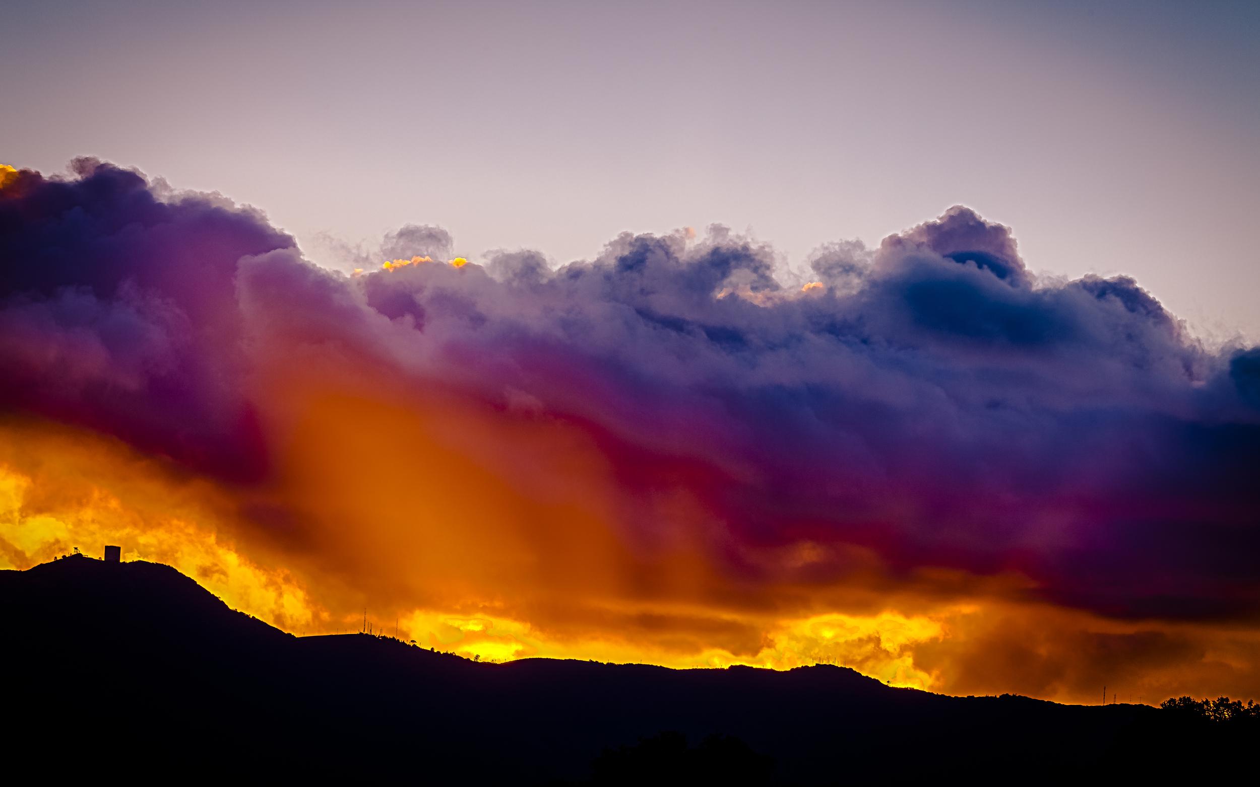 Sunset Behind Santa Cruz Mountains