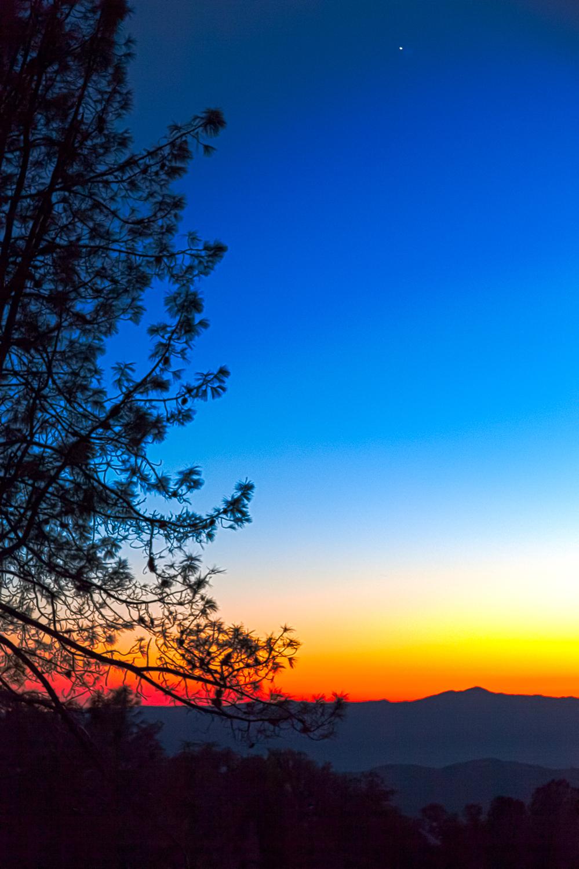 Sunset over Santa Cruz Mountains, from Mt. Hamilton
